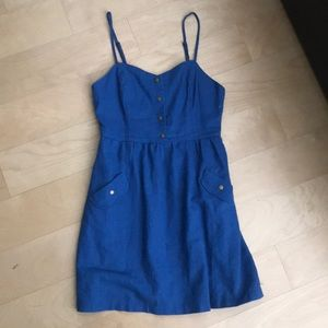 Urban outfitters blue dress with keyhole back